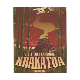 Besuchen Sie das Furcht erregende Krakatoa Holzwanddeko