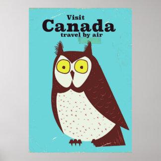 Besuchen Sie das Kanada-Eulenplakat Poster