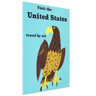 Besuchen Sie das Staat-Reiseplakat Leinwanddruck