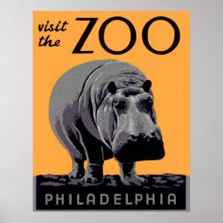 Besuchen Sie das Vintage Plakat Zoo-Philadelphias