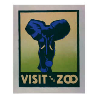 Besuchen Sie das Vintage WPA Plakat des