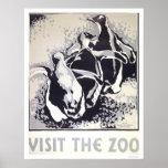 Besuchen Sie den Zoo-Pinguin WPA 1936 Plakate