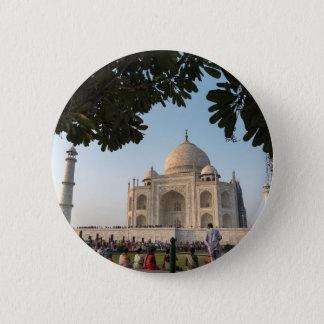 Besucher bei Taj Mahal, Agra, Indien Runder Button 5,7 Cm