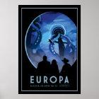 BesuchEuropa - eisiger Mond von Jupiter Poster
