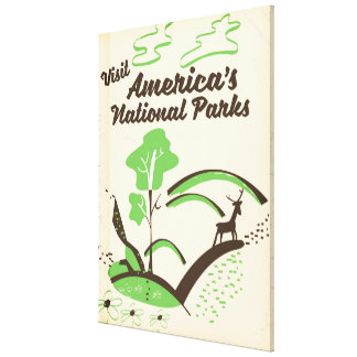 Besuchs-Amerikas Vintages Plakat Nationalparks Leinwanddruck