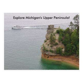 Besuchs-Bergmann-Schloss in Michigans oberer Postkarte