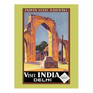 Besuchs-Indien ~ Delhi Postkarte