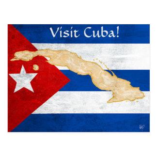 """""""Besuchs-Kuba"""" Postkarte"""