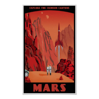 Besuchs-Mars Poster
