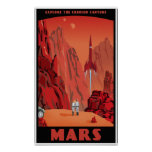 Besuchs-Mars Posterdruck