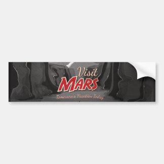 Besuchs-Mars-Vintages Plakat Autoaufkleber