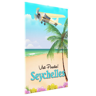 Besuchs-Paradies! Seychellen-Reiseplakat Leinwanddruck