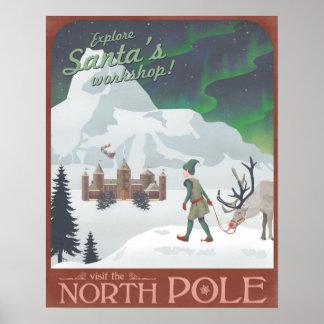 Besuchs-Sankt Werkstatt beim Nordpol Poster