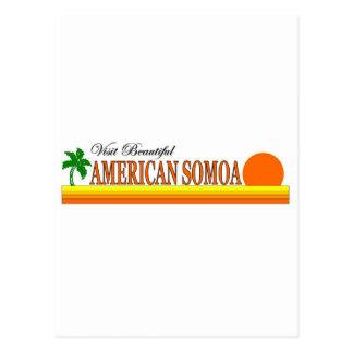 Besuchs-schöner Amerikaner Somoa Postkarte