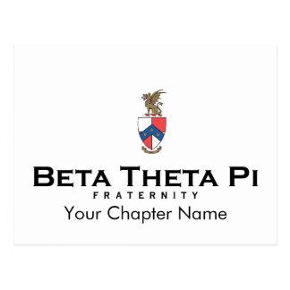 Betatheta-PU mit Wappen - Farbe Postkarte