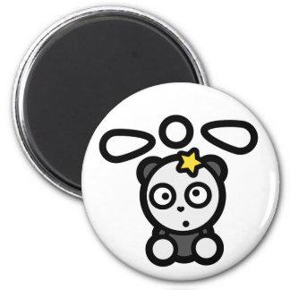 Betäubter Panda-Hubschrauber-runder Standardmagnet Runder Magnet 5,1 Cm