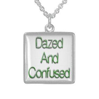 Betäubtes u. verwirrtes Grün Sterling Silberkette