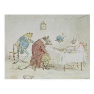 Beten Sie, Fräulein Mouse, Sie gibt uns etwas beer Postkarte