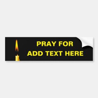 Beten Sie für addieren Text Autoaufkleber