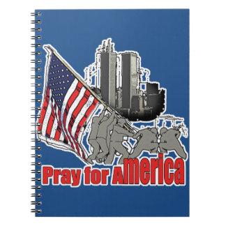 Beten Sie für Amerika Spiral Notizblock