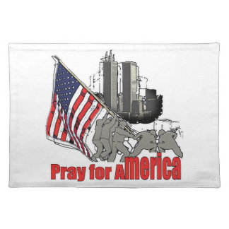 Beten Sie für Amerika Stofftischset