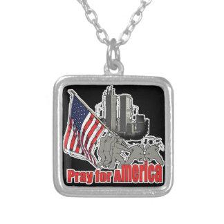 Beten Sie für Amerika Versilberte Kette