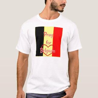 Beten Sie für Belgien T-Shirt