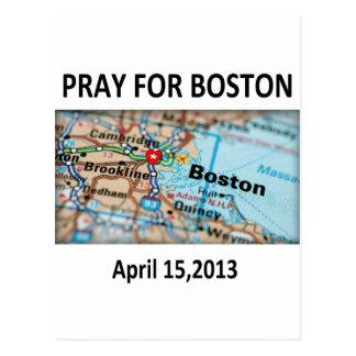 Beten Sie für Boston-Karte Postkarte