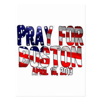 Beten Sie für Boston Postkarte