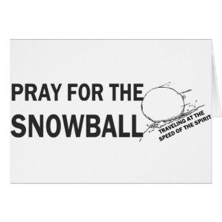 Beten Sie für das Schneeball Fahrwerk Karte