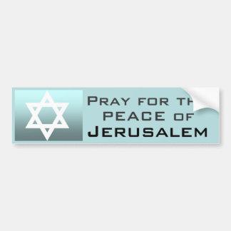Beten Sie für den Frieden von Jerusalem Autoaufkleber