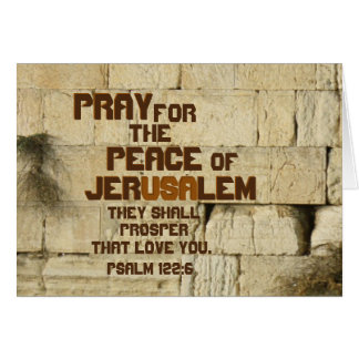 Beten Sie für den Frieden von Jerusalem, Karte