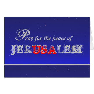 Beten Sie für den Frieden von Jerusalem - Karte