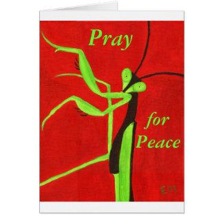 """""""Beten Sie für Frieden """" Karte"""