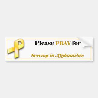 Beten Sie für Ihren Soldaten in Afghanistan Autoaufkleber