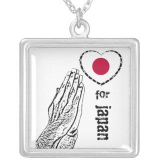 Beten Sie für Japan-Tsunami Versilberte Kette