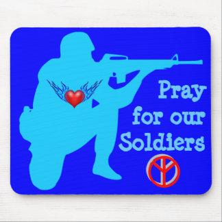 beten Sie für unser Soldaten mousepad