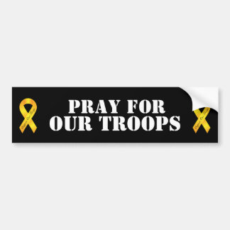 Beten Sie für unsere Truppen - gelbes Band Autoaufkleber