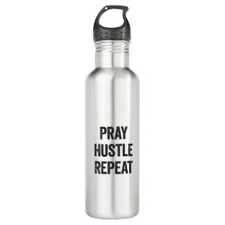 Beten Sie Gedränge-Wiederholung Edelstahlflasche