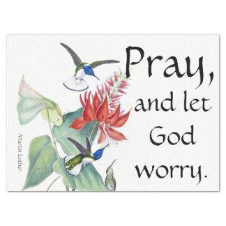 Beten Sie gelassenen Gott, Seidenpapier