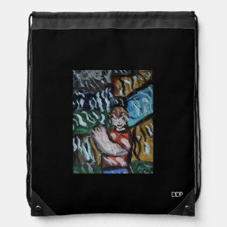 beten Sie im Regen Turnbeutel