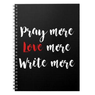 Beten Sie, Liebe, schreiben Sie Notizbuch Notizblock