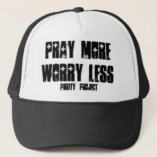 Beten Sie mehr - Sorge weniger Truckerkappe