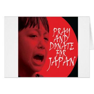Beten Sie und spenden Sie für Japan Karte