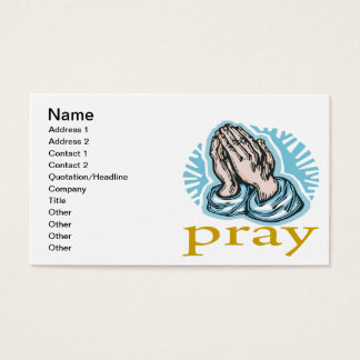 Beten Sie Visitenkarte