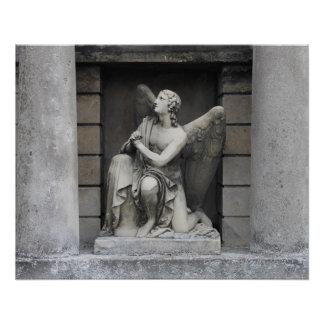 Betende Engels-Skulptur Poster