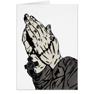 Betende Hände (mit Zeichen des Kreuzes) Karte