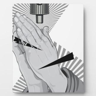 Betende HandGraffiti Fotoplatte