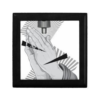 Betende HandGraffiti Schmuckschachtel