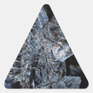 Betender Glasengel Dreieckiger Aufkleber